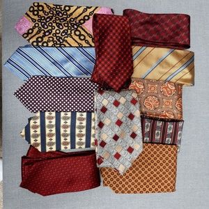 Christain Dior and 11 more men neck ties .